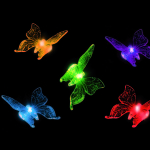 Solar butterfly stake light
