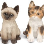 decorative polyresin kitten