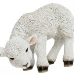 decorative polyresin lamb