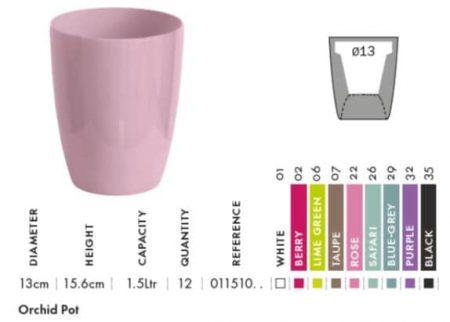 Color range - new orchid pots | Garden ID – Croix Chatelain